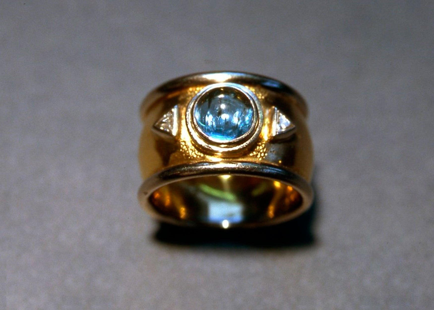 Aquamarine & Trilliant ring